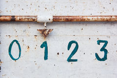 αφηρημένος αριθμός ένας Στοκ Εικόνες