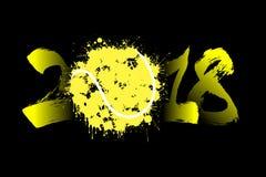 Αφηρημένος αριθμός 2018 και σφαίρα αντισφαίρισης Στοκ εικόνες με δικαίωμα ελεύθερης χρήσης
