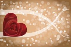 Αφηρημένος αυξήθηκε υπόβαθρο καρδιών Στοκ φωτογραφία με δικαίωμα ελεύθερης χρήσης