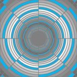 Αφηρημένος βαθύς γκρίζος σωλήνας, μπλε φωτισμός Στοκ εικόνες με δικαίωμα ελεύθερης χρήσης
