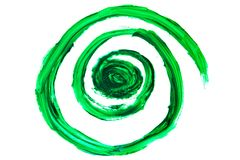 Αφηρημένος βαθύς - πράσινοι στρόβιλοι, μικτά χρώματα χρωμάτων Στοκ φωτογραφία με δικαίωμα ελεύθερης χρήσης