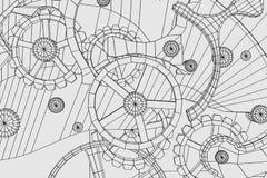Αφηρημένος βιομηχανικός, υπόβαθρο τεχνολογίας Περιλήψεις εργαλείων απεικόνιση αποθεμάτων