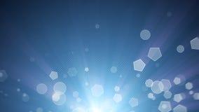 Αφηρημένος βρόχος υποβάθρου Bokeh φω'των μορίων απεικόνιση αποθεμάτων