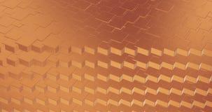Αφηρημένος γεωμετρικός αυξήθηκε χρυσή backgroundfoil κεραμιδιών τρισδιάστατη απόδοση υποβάθρου βρόχων σύστασης άνευ ραφής διανυσματική απεικόνιση