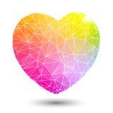 Αφηρημένος γεωμετρικός ζωηρόχρωμος διαμορφωμένος καρδιά βαλεντίνος Στοκ φωτογραφία με δικαίωμα ελεύθερης χρήσης