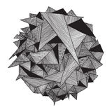 Αφηρημένος γεωμετρικός τρύγος σχεδίων αναδρομικός Τρίγωνο υποβάθρου Στοκ εικόνες με δικαίωμα ελεύθερης χρήσης
