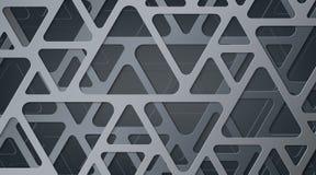 αφηρημένος γκρίζος μεταλ Να συμπλέξει των γεωμετρικών αριθμών Τρίγωνα με τις στρογγυλευμένες γωνίες διανυσματική απεικόνιση