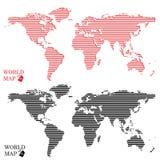Αφηρημένος γραφικός παγκόσμιος χάρτης υπολογιστών γύρω από τα σημεία Στοκ Εικόνα