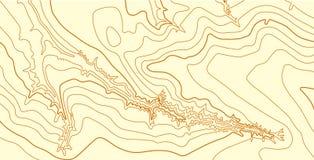 Αφηρημένος διανυσματικός τοπογραφικός χάρτης στα καφετιά χρώματα Στοκ φωτογραφίες με δικαίωμα ελεύθερης χρήσης