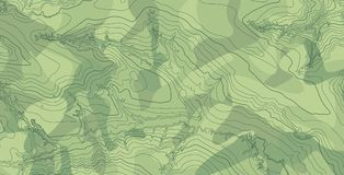 Αφηρημένος διανυσματικός τοπογραφικός χάρτης στα πράσινα χρώματα Στοκ εικόνα με δικαίωμα ελεύθερης χρήσης
