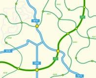 αφηρημένος δρόμος χαρτών Στοκ φωτογραφία με δικαίωμα ελεύθερης χρήσης