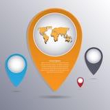 Αφηρημένος δείκτης Infographic επίσης corel σύρετε το διάνυσμα απεικόνισης Στοκ Εικόνα