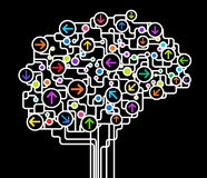 Αφηρημένος εγκέφαλος Στοκ Εικόνες