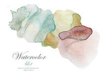 Αφηρημένος λεκές watercolor χρώματος απεικόνιση αποθεμάτων