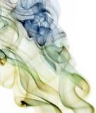 Αφηρημένος λεπτός καπνός που απομονώνεται στο λευκό Στοκ εικόνα με δικαίωμα ελεύθερης χρήσης