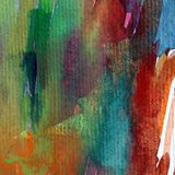 Αφηρημένος ζωηρόχρωμος κατασκευασμένος υποβάθρου τέχνης Watercolor Στοκ εικόνες με δικαίωμα ελεύθερης χρήσης