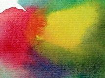 Αφηρημένος ζωηρόχρωμος κατασκευασμένος υποβάθρου τέχνης Watercolor Στοκ Εικόνα