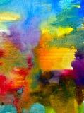 Αφηρημένος ζωηρόχρωμος κατασκευασμένος υποβάθρου τέχνης Watercolor Στοκ Φωτογραφία