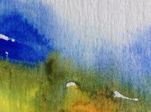 Αφηρημένος ζωηρόχρωμος κατασκευασμένος υποβάθρου τέχνης Watercolor Στοκ εικόνα με δικαίωμα ελεύθερης χρήσης