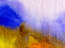 Αφηρημένος ζωηρόχρωμος κατασκευασμένος υποβάθρου τέχνης Watercolor Στοκ Εικόνες