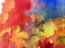 Αφηρημένος ζωηρόχρωμος κατασκευασμένος υποβάθρου τέχνης Watercolor Στοκ φωτογραφίες με δικαίωμα ελεύθερης χρήσης