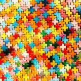 Αφηρημένος ζωηρόχρωμος τουβλότοιχος ουράνιων τόξων σε ένα υπόβαθρο Στοκ φωτογραφίες με δικαίωμα ελεύθερης χρήσης