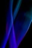 Αφηρημένος ζωηρόχρωμος ψηφιακός καπνός στο μαύρο υπόβαθρο καλλιτεχνικό Στοκ Φωτογραφία