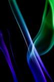 Αφηρημένος ζωηρόχρωμος ψηφιακός καπνός στο μαύρο υπόβαθρο καλλιτεχνικό Στοκ εικόνες με δικαίωμα ελεύθερης χρήσης