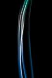 Αφηρημένος ζωηρόχρωμος ψηφιακός καπνός στο μαύρο υπόβαθρο καλλιτεχνικό Στοκ Φωτογραφίες