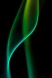 Αφηρημένος ζωηρόχρωμος ψηφιακός καπνός στο μαύρο υπόβαθρο καλλιτεχνικό Στοκ Εικόνες