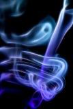 Αφηρημένος ζωηρόχρωμος ψηφιακός καπνός στο μαύρο υπόβαθρο καλλιτεχνικό Στοκ φωτογραφία με δικαίωμα ελεύθερης χρήσης