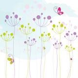 αφηρημένος ζωηρόχρωμος floral π&e απεικόνιση αποθεμάτων