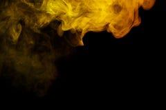 Αφηρημένος κίτρινος καπνός Weipa Στοκ Φωτογραφίες