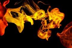 Αφηρημένος κίτρινος καπνός Weipa Στοκ εικόνες με δικαίωμα ελεύθερης χρήσης