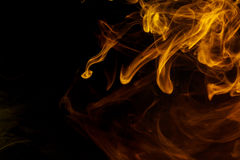 Αφηρημένος κίτρινος καπνός Weipa Στοκ Φωτογραφία