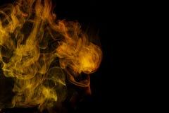 Αφηρημένος κίτρινος καπνός Weipa Στοκ εικόνα με δικαίωμα ελεύθερης χρήσης