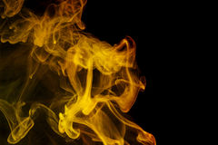 Αφηρημένος κίτρινος καπνός Weipa Στοκ φωτογραφία με δικαίωμα ελεύθερης χρήσης