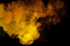Αφηρημένος κίτρινος καπνός Weipa Στοκ φωτογραφίες με δικαίωμα ελεύθερης χρήσης