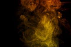 Αφηρημένος κίτρινος καπνός Weipa Στοκ Εικόνες