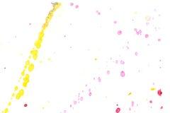 Αφηρημένος κίτρινος κόκκινος παφλασμός μελανιού Στοκ Φωτογραφία