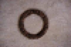 Αφηρημένος καφετής φραγμός μωσαϊκών κύκλων Στοκ εικόνες με δικαίωμα ελεύθερης χρήσης
