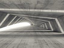 Αφηρημένος κενός φωτισμένος καμμμένος συγκεκριμένος διάδρομος διανυσματική απεικόνιση