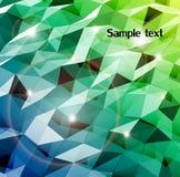 Αφηρημένος κυανός συνδυασμός τριγώνου. Διάνυσμα απεικόνιση αποθεμάτων