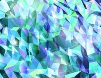 Αφηρημένος κυανός συνδυασμός τριγώνου. Διάνυσμα ελεύθερη απεικόνιση δικαιώματος
