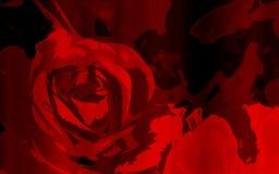Αφηρημένος κόκκινος αυξήθηκε σχέδιο ή γραμμή λουλουδιών με την κενή διαστημική περιοχή Στοκ φωτογραφία με δικαίωμα ελεύθερης χρήσης