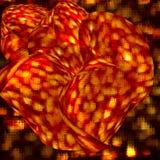 αφηρημένος κόκκινος διάστικτος λουλουδιών Στοκ Εικόνες
