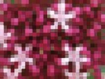 Αφηρημένος κόκκινος και πορφυρός φραγμός μωσαϊκών Στοκ Εικόνες