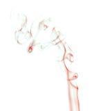 Αφηρημένος κόκκινος καπνός στο άσπρο υπόβαθρο Στοκ φωτογραφίες με δικαίωμα ελεύθερης χρήσης