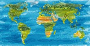 αφηρημένος κόσμος χαρτών Στοκ φωτογραφία με δικαίωμα ελεύθερης χρήσης