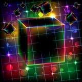 αφηρημένος κύβος ανασκόπη& Διανυσματική απεικόνιση